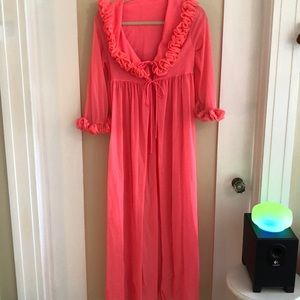 Amazing neon coral vintage robe